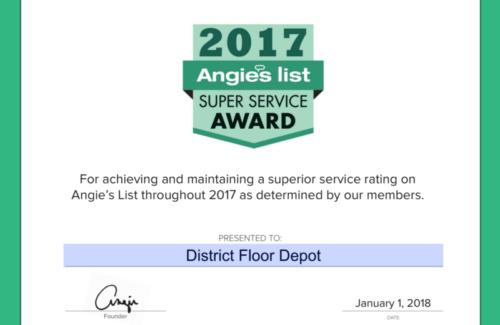 District Floor Depot Super Service Award 2017