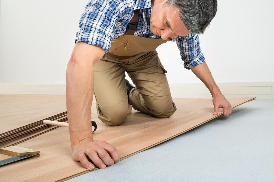 Finished Hardwood Flooring Installation