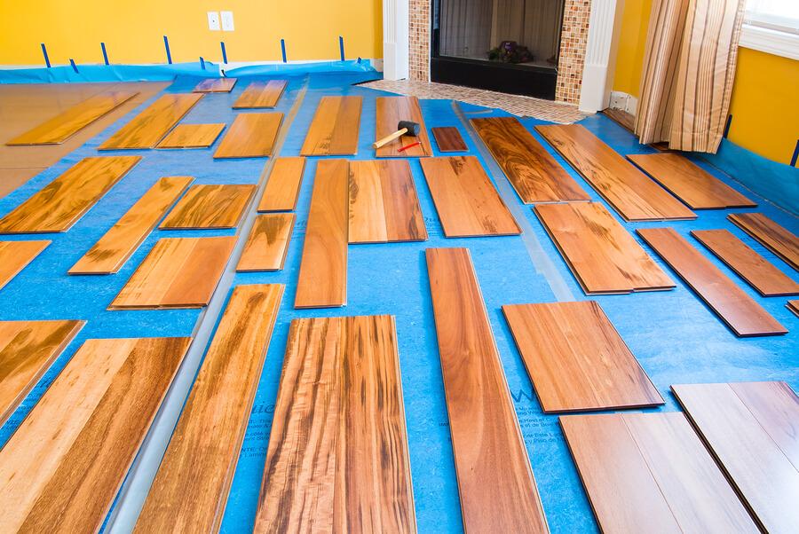 Hardwood Flooring Installation Work