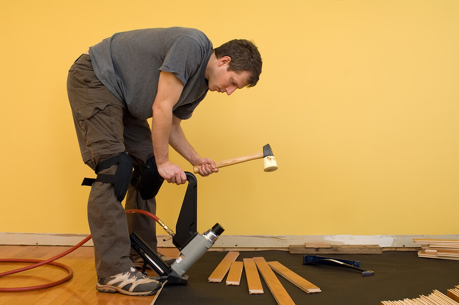 Unfinished Flooring Installation