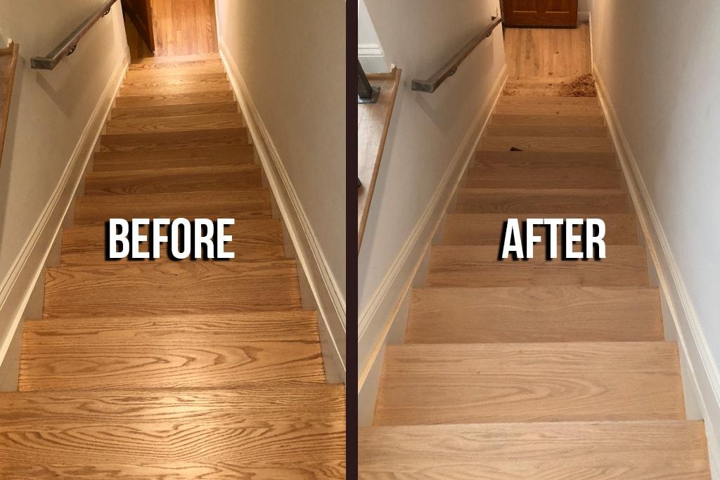 Oak Steps Refinishing Cover-min