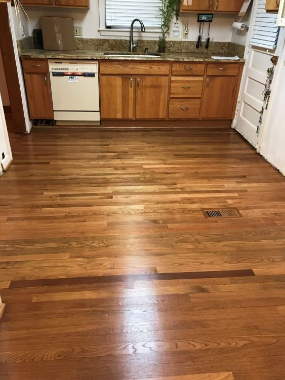 "2 1/4"" White Oak Addition & Refinish 1"