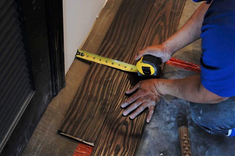 "5 1/8"" Smoked Solid Pine Hand Scraped 41"