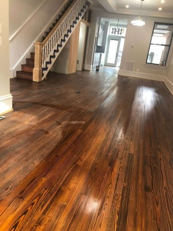 Heart Pine Restoration, Repair & Blend 9