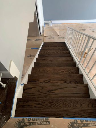 Sand & Refinish Staircase 12