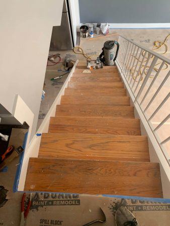 Sand & Refinish Staircase 11