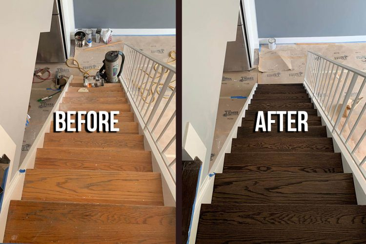Sand & Refinish Staircase 56
