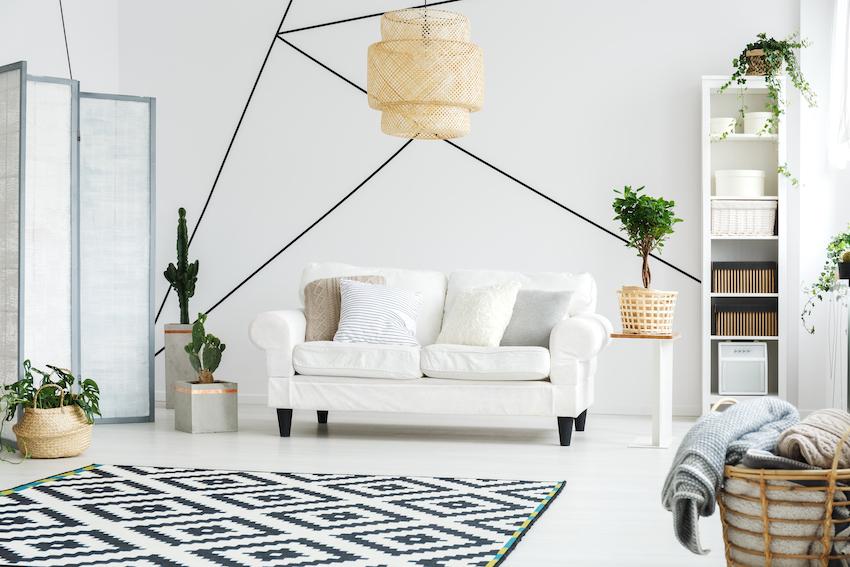 furniture on a hardwood floor