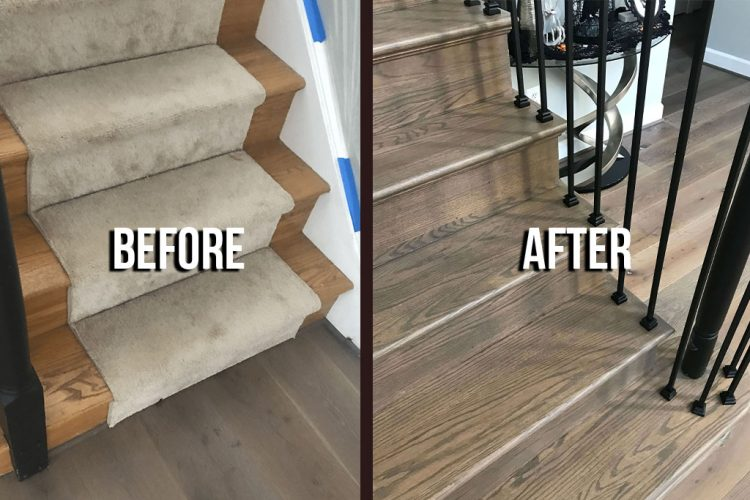 Staircase Refinishing 1