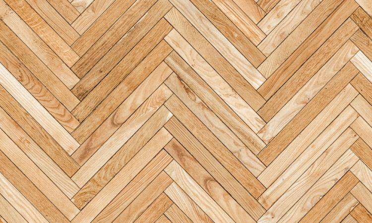 hardwood with herringbone pattern