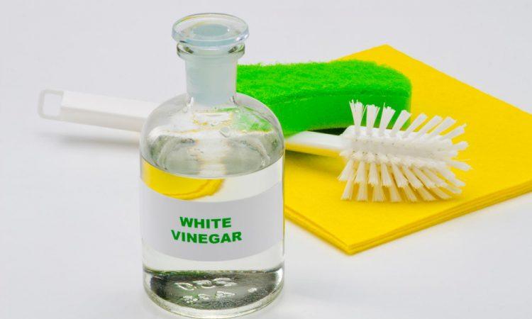 white vinegar to remove black stains.