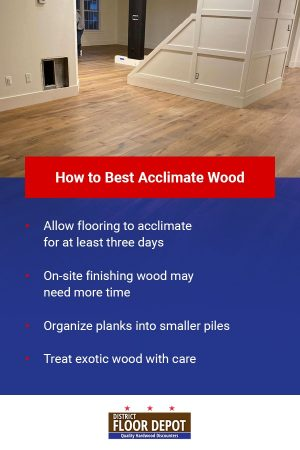 how to best acclimate wood flooring